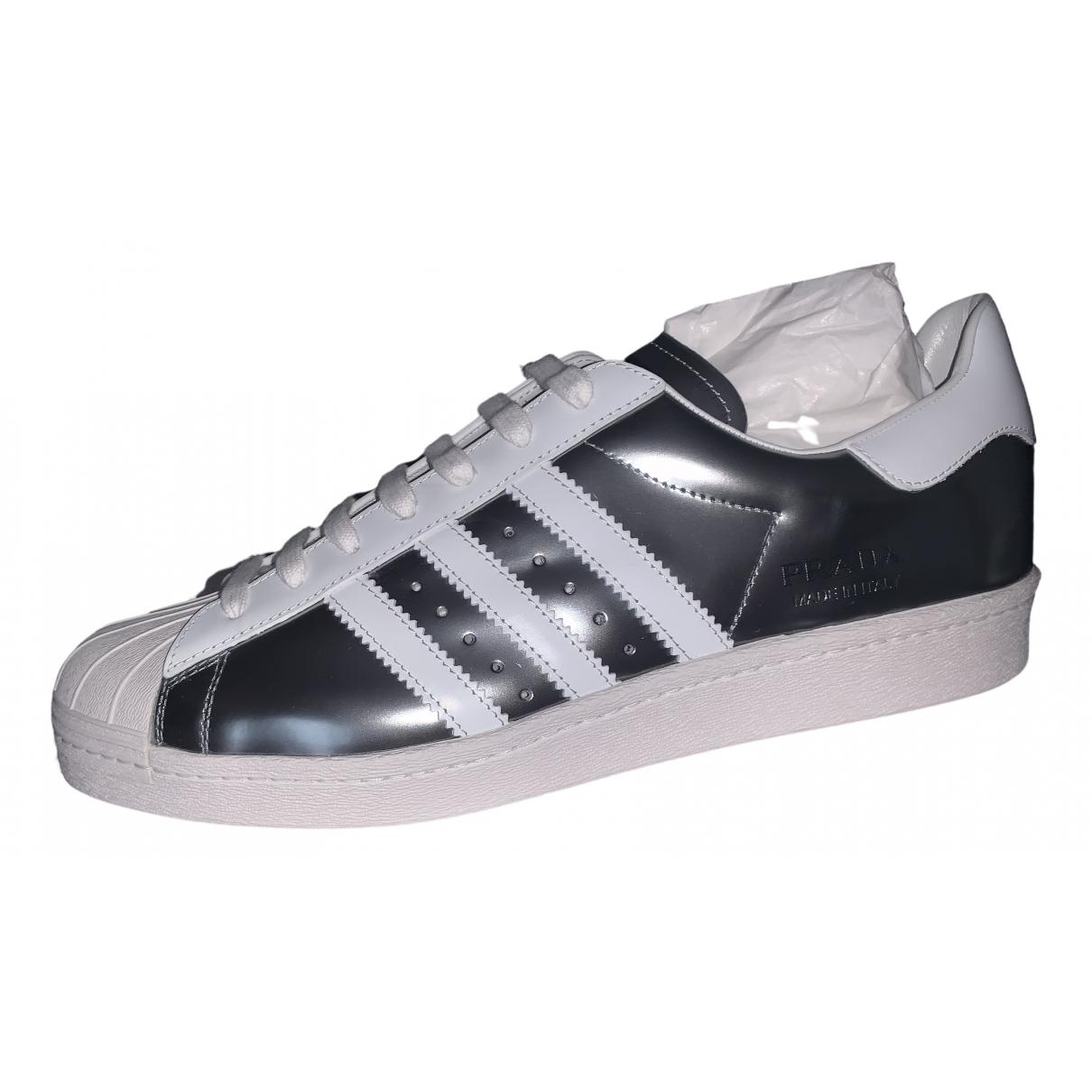 Prada X Adidas \N Metallic Patent leather Trainers for Men 45 EU