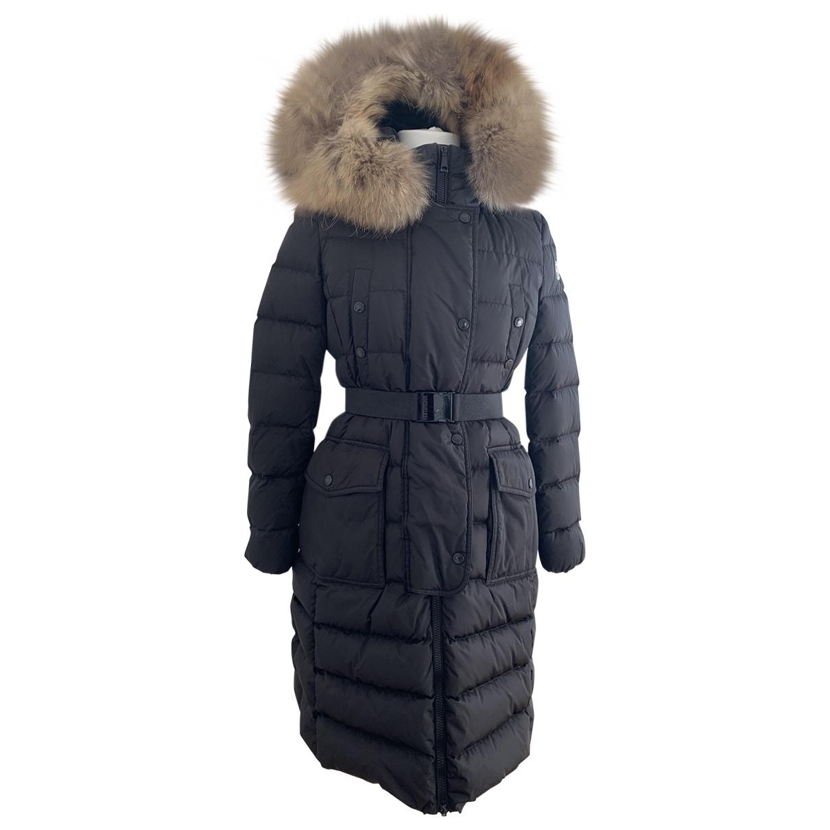 Moncler Long Black coat for Women 40 FR