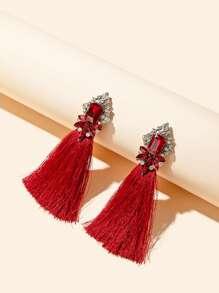 Tassel Charm Drop Earrings