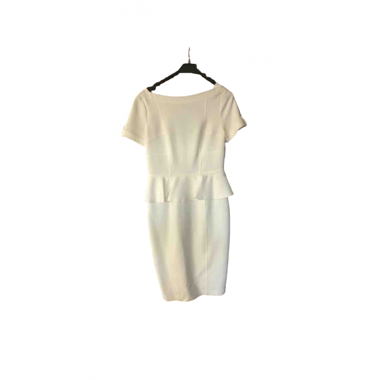 Burberry \N Kleid in  Weiss Polyester