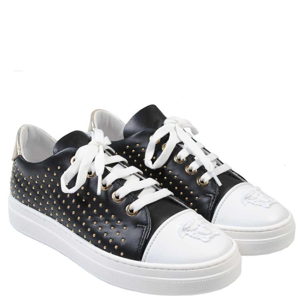Versace Young Versace Medusa Trainer Colour: BLACK, Size: 25