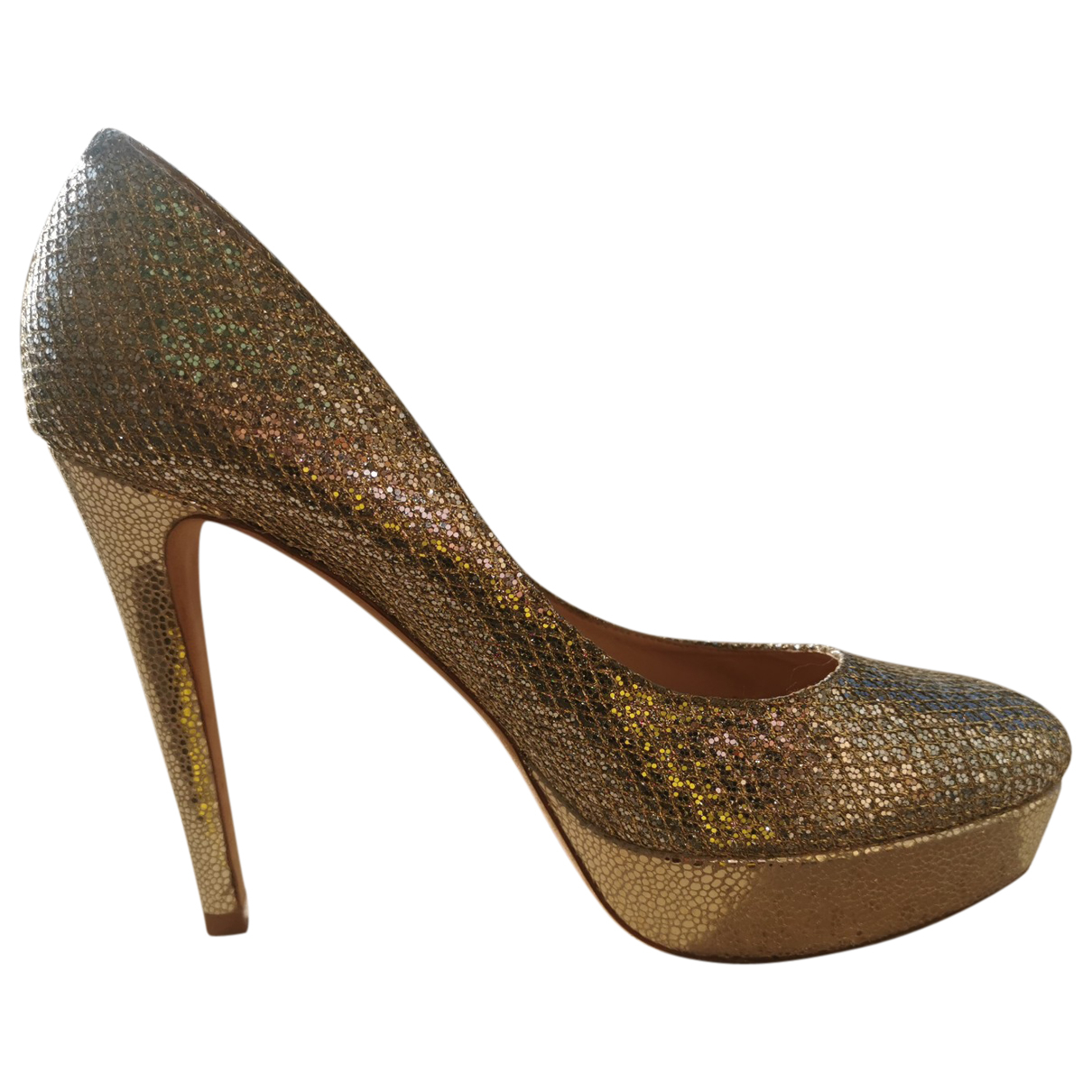 Jimmy Choo \N Pumps in  Silber Mit Pailletten
