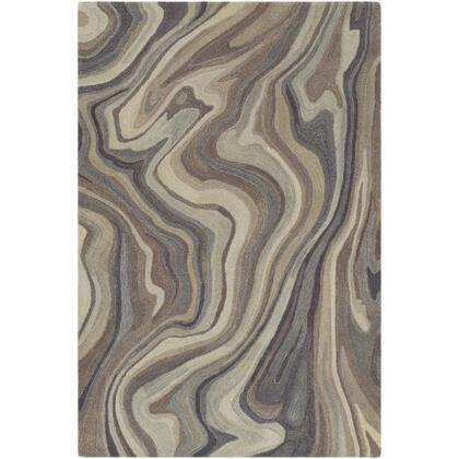 Mountain MOI-1017 8' x 10' Rectangle Modern Rug in Navy  Medium Gray  Camel  Dark Brown