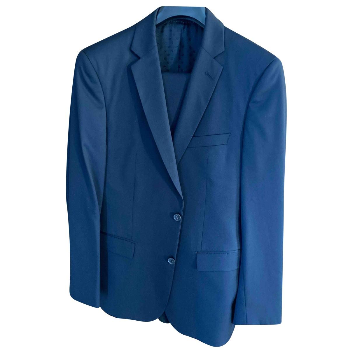 Boss N Navy Wool Suits for Men 50 FR