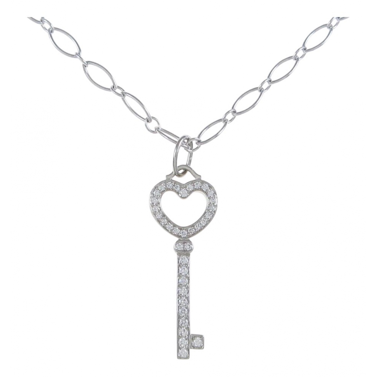 Tiffany & Co Clés Tiffany Silver White gold necklace for Women \N