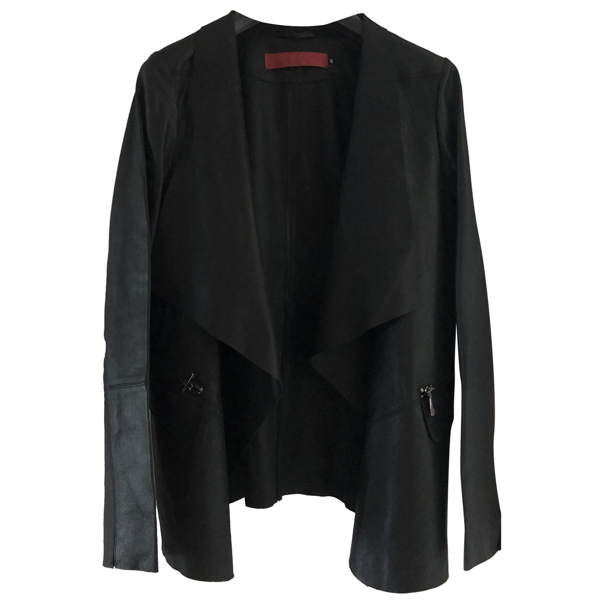 Giorgio & Mario - Blouson   pour femme en cuir - noir