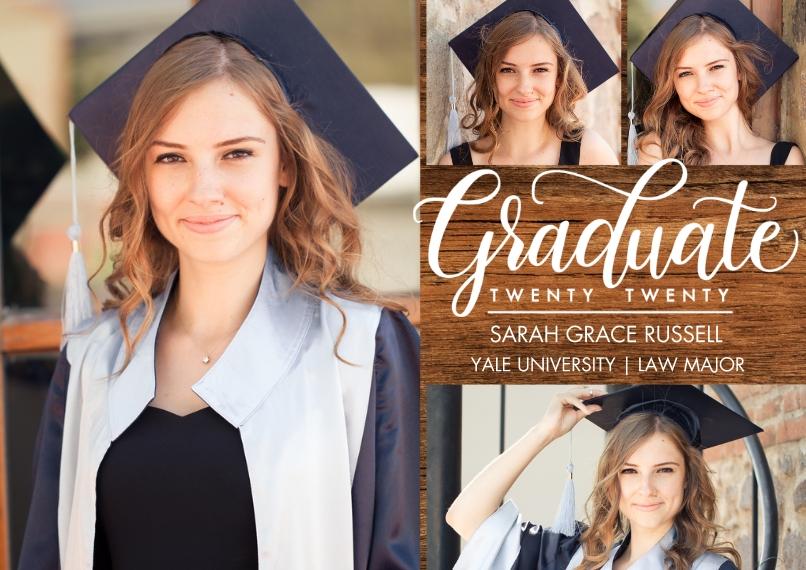 2020 Graduation Announcements 5x7 Cards, Premium Cardstock 120lb, Card & Stationery -Graduate Twenty Twenty Script by Tumbalina