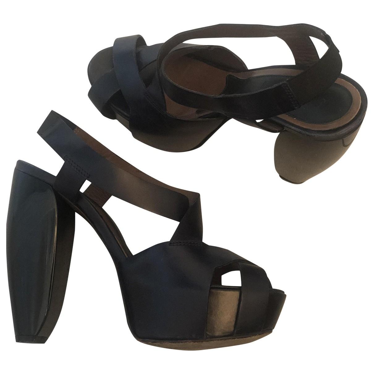Marni \N Blue Leather Sandals for Women 36.5 EU