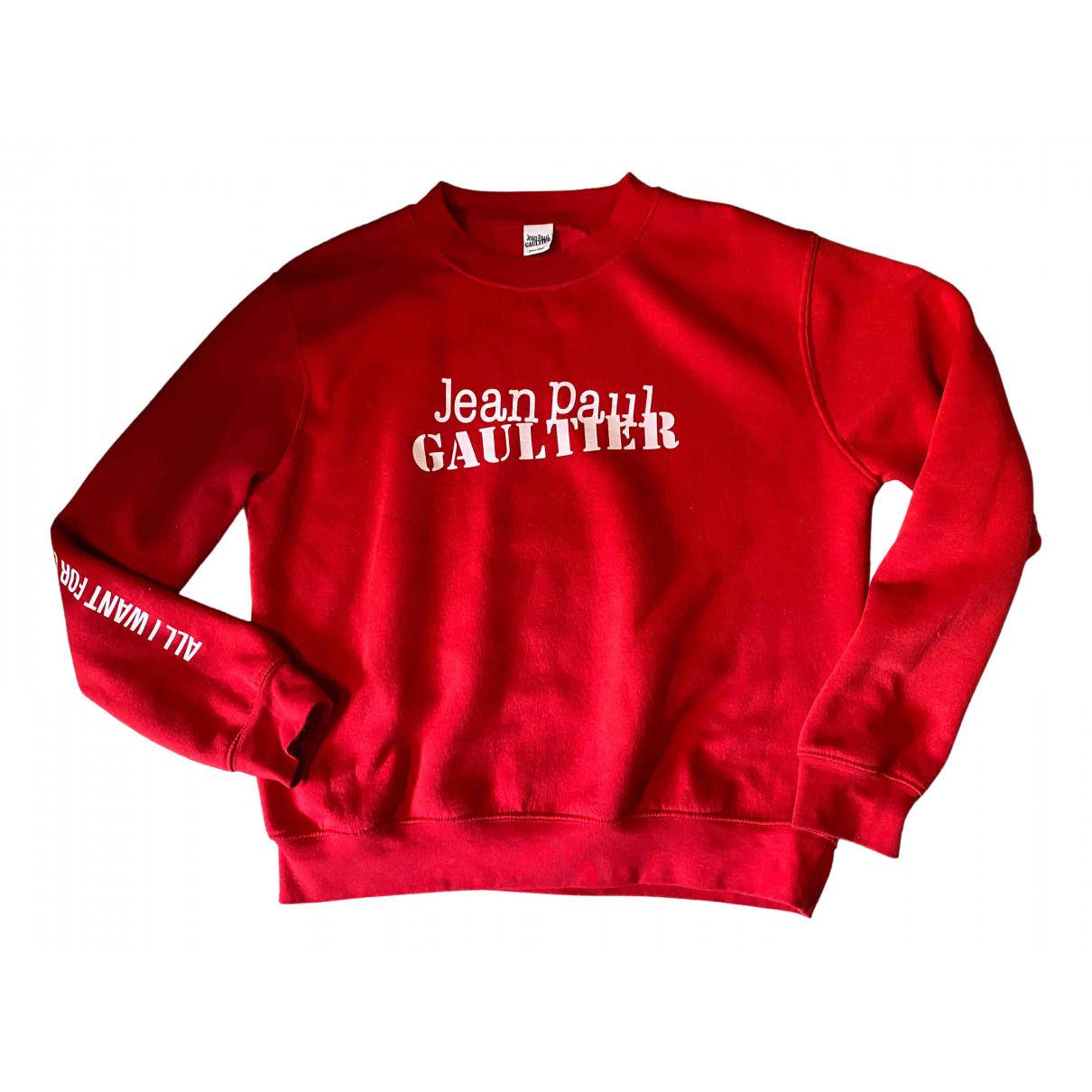 Jean Paul Gaultier \N Pullover in  Rot Baumwolle