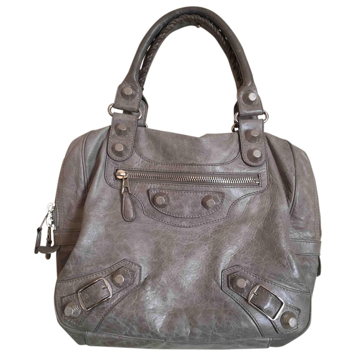 Balenciaga Vélo Brown Leather handbag for Women \N