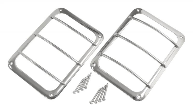 RT Offroad RT34081 Stainless Steel Tail Light Guard Set for 07-18 Jeep JK Wrangler; Incl. Hardware Jeep Wrangler 2007-2017