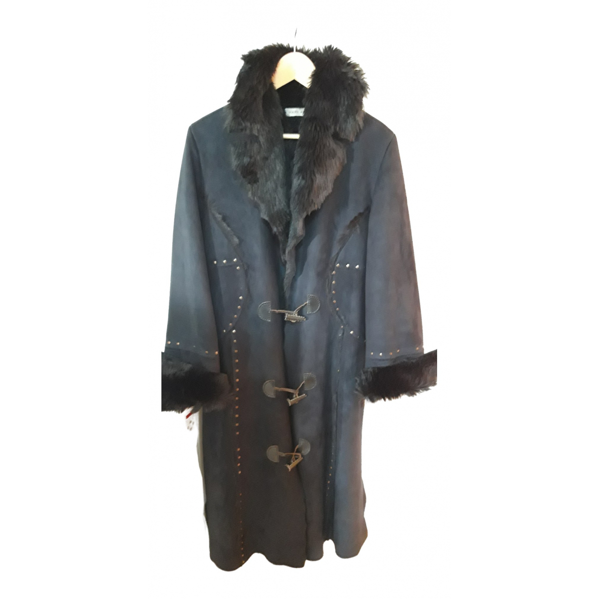 - Manteau   pour femme en fourrure synthetique - bleu