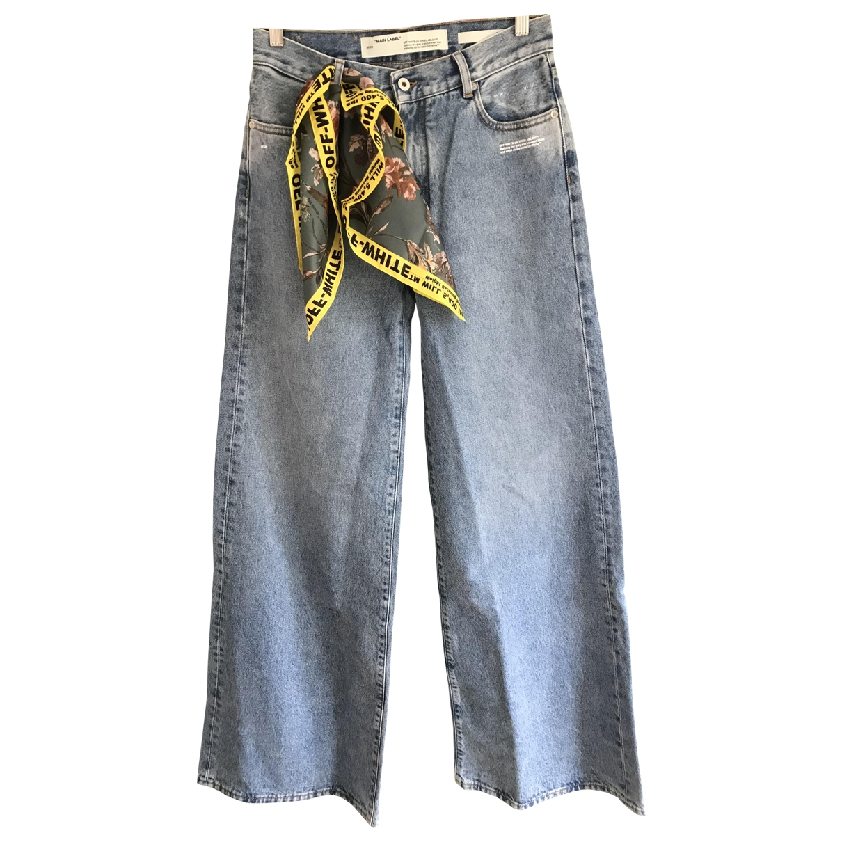 Off-white \N Blue Cotton Jeans for Women 30 US