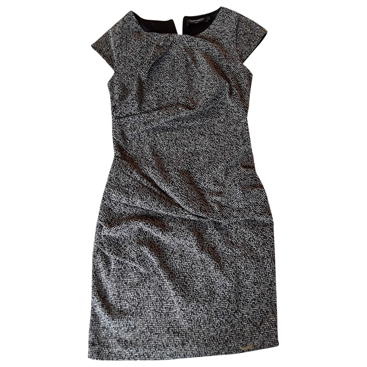 Non Signé / Unsigned \N Black Cotton - elasthane dress for Women 46 FR