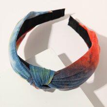 Tie Dye Knot Decor Hair Hoop