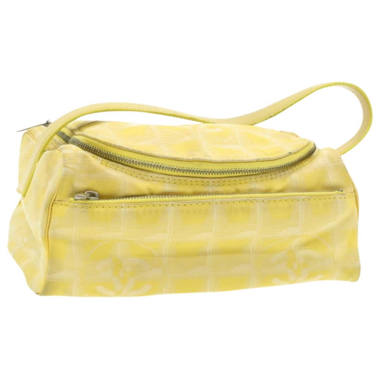 Chanel - Sac a main   pour femme en toile - jaune