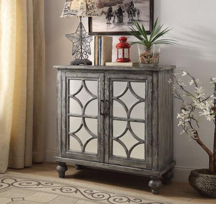 BM154254 Velika Console Table With 2 Doors  Weathered