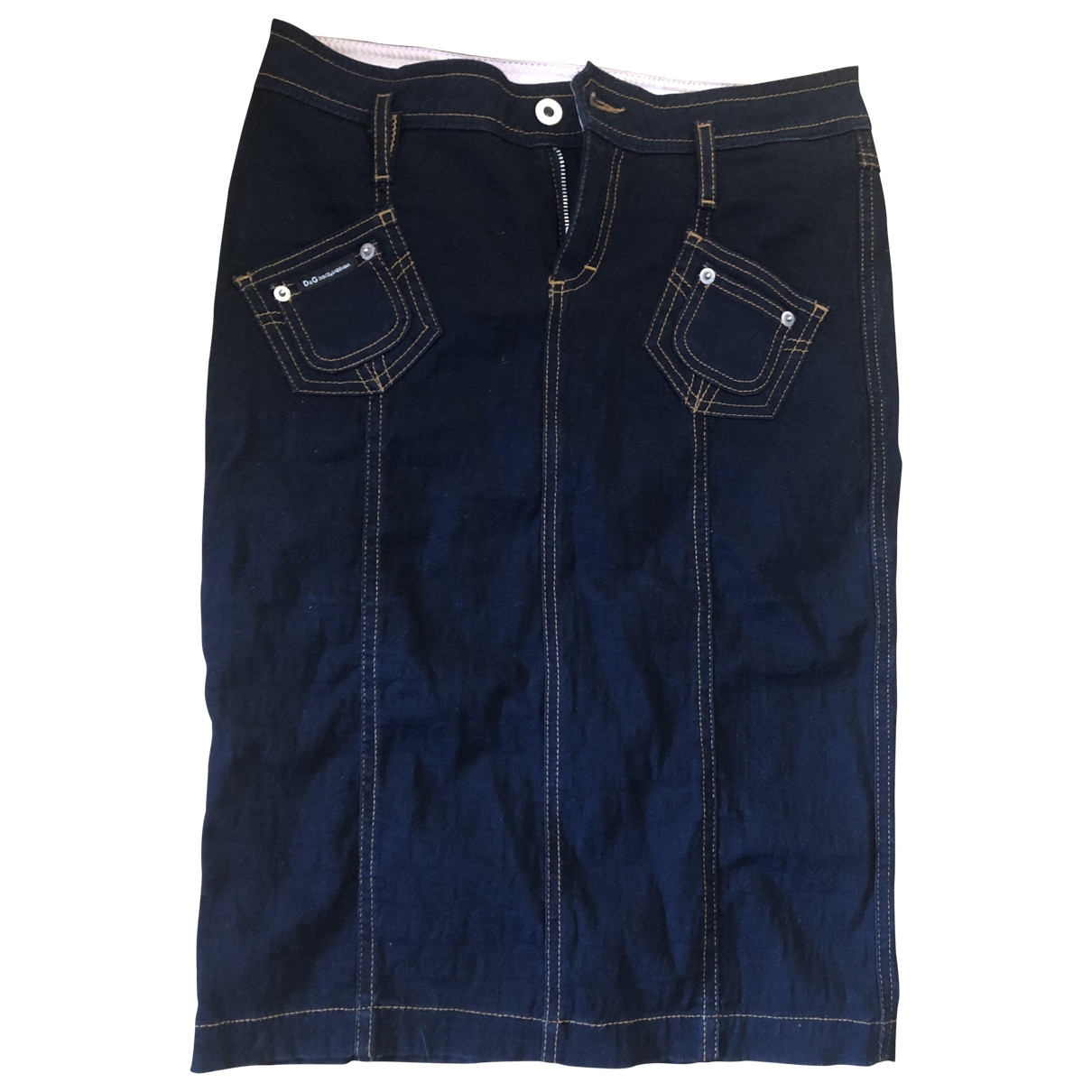 D&g - Jupe   pour femme en denim - bleu