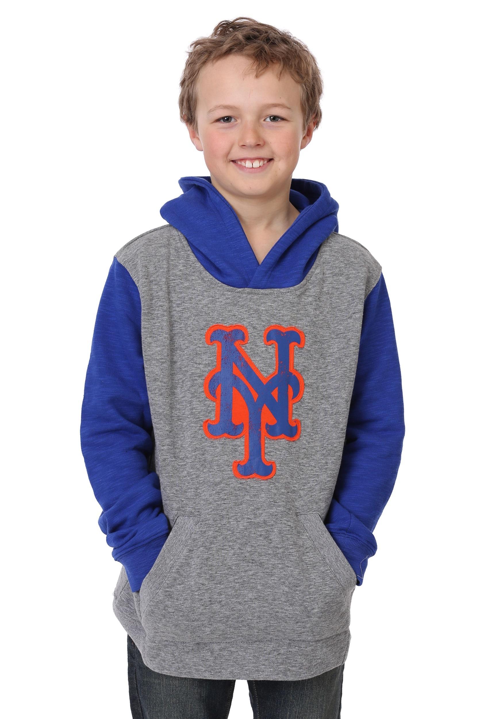 New Beginnings Mets Pullover Hooded Youth Sweatshirt