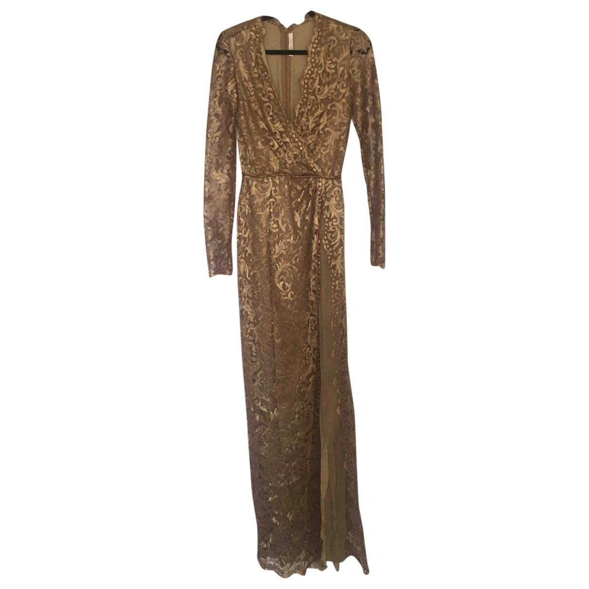 Naeem Khan \N Kleid in  Gold Seide