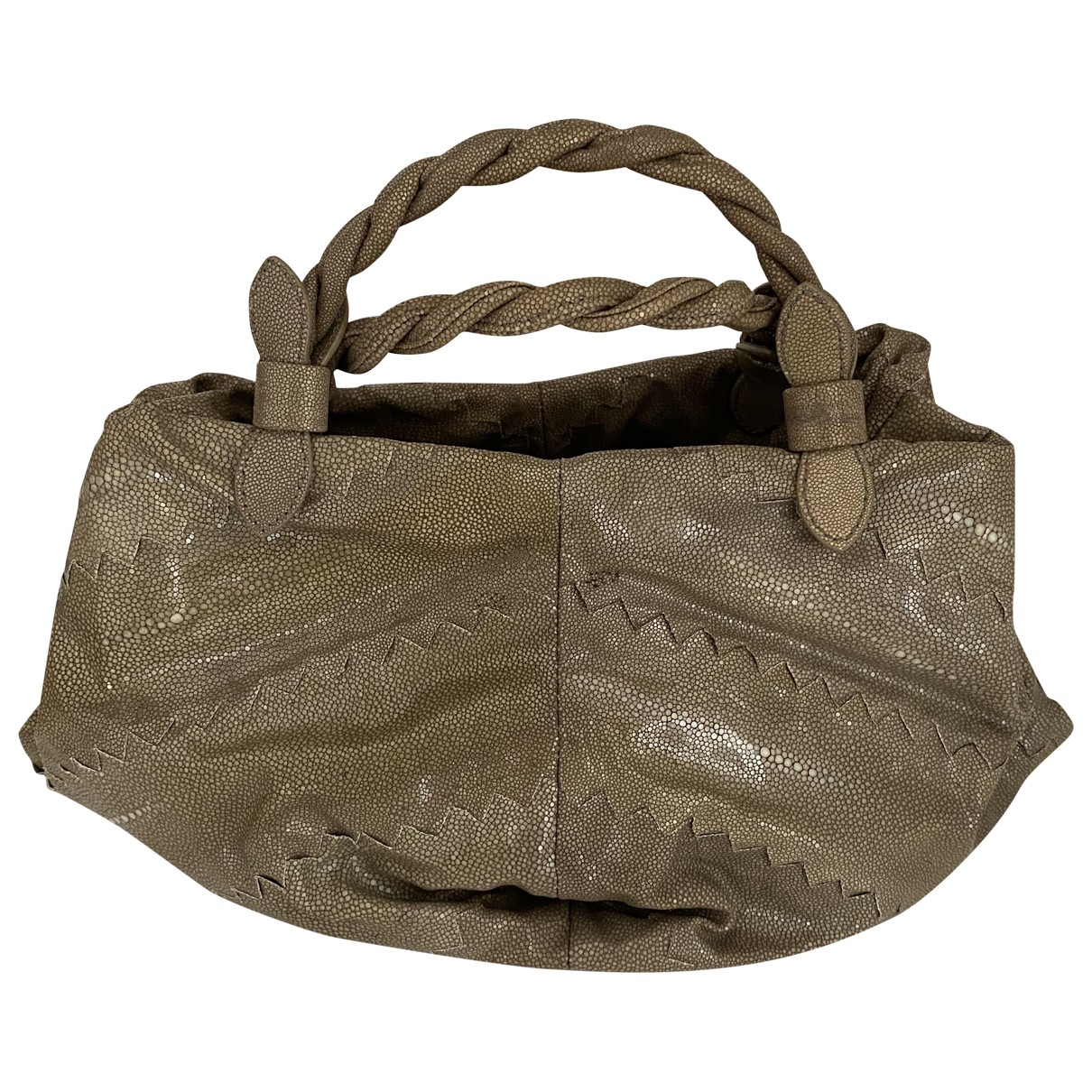 Bottega Veneta \N Handtasche in  Beige Wasserschlangen