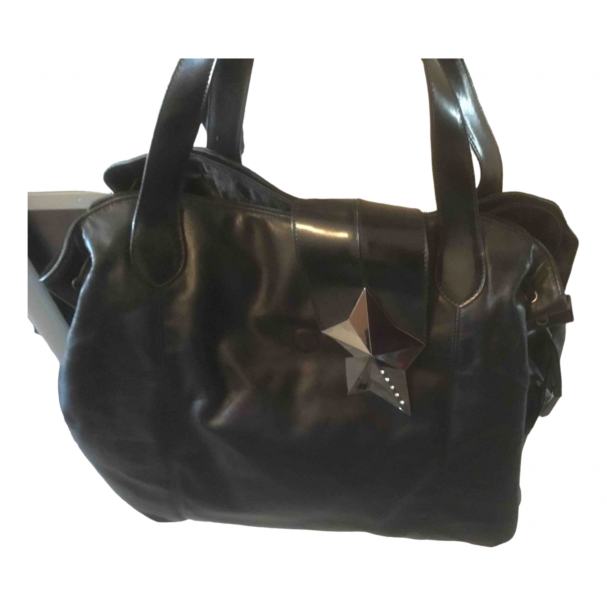 Thierry Mugler - Sac a main   pour femme en cuir - noir