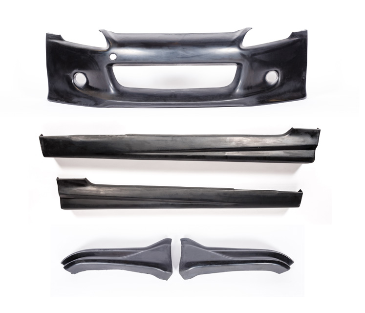 KBD Bodykits 37-2045 SW Spec Style 5 Piece Full Body Kit Honda S2000 00-09