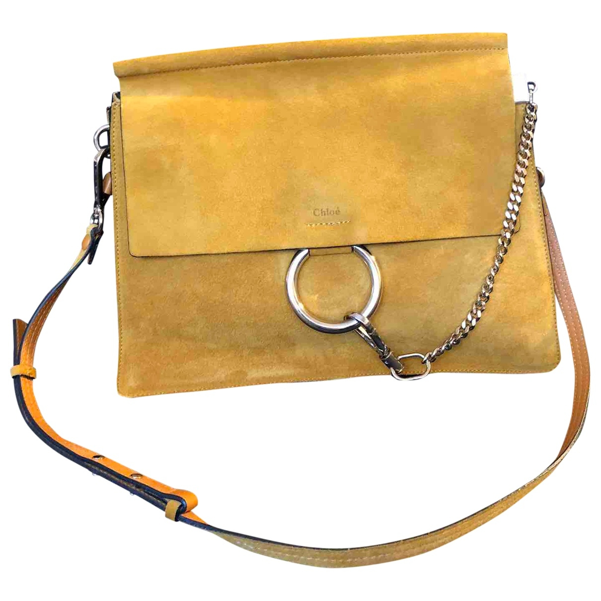 Chloé Faye Yellow Suede handbag for Women \N