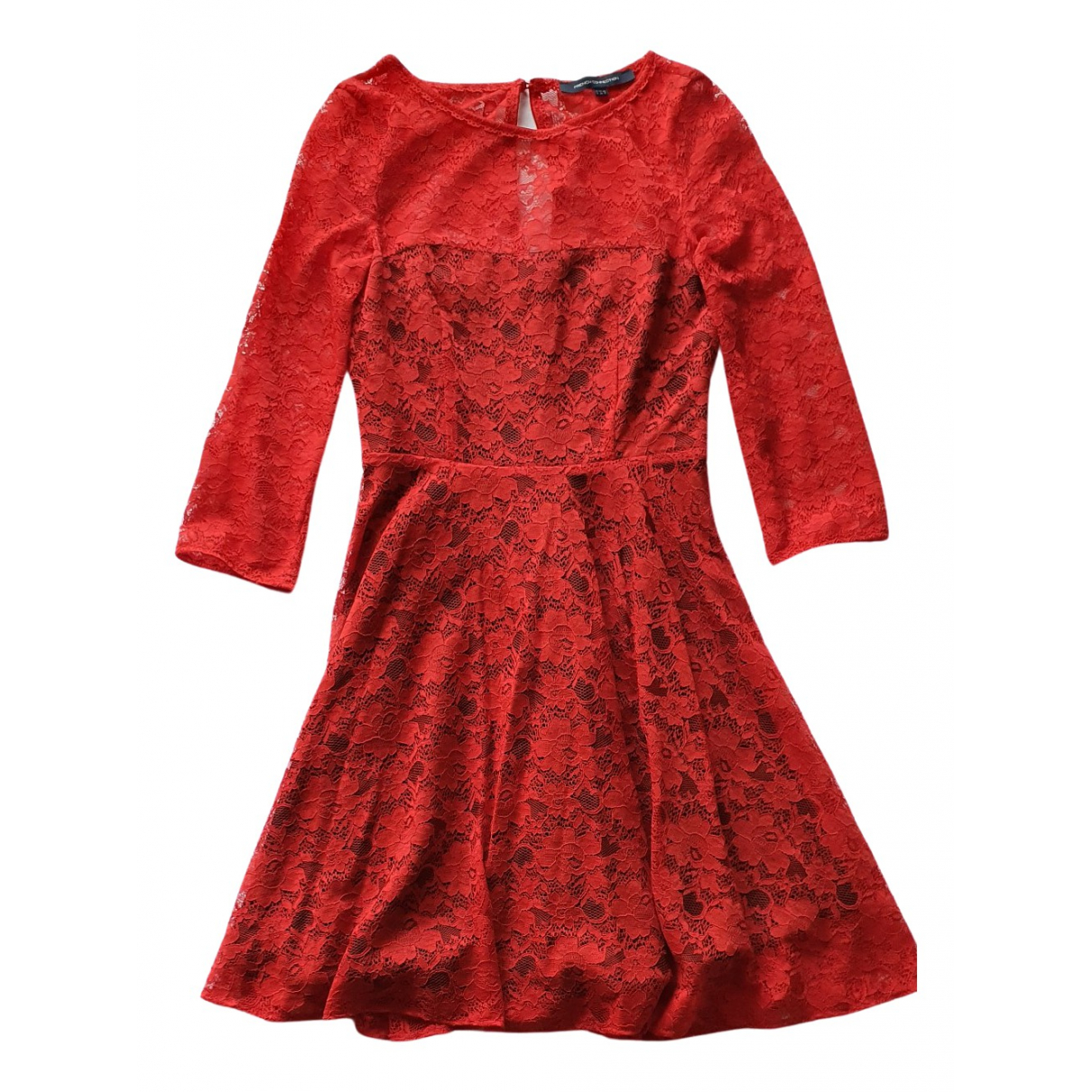 French Connection \N Kleid in  Rot Spitze
