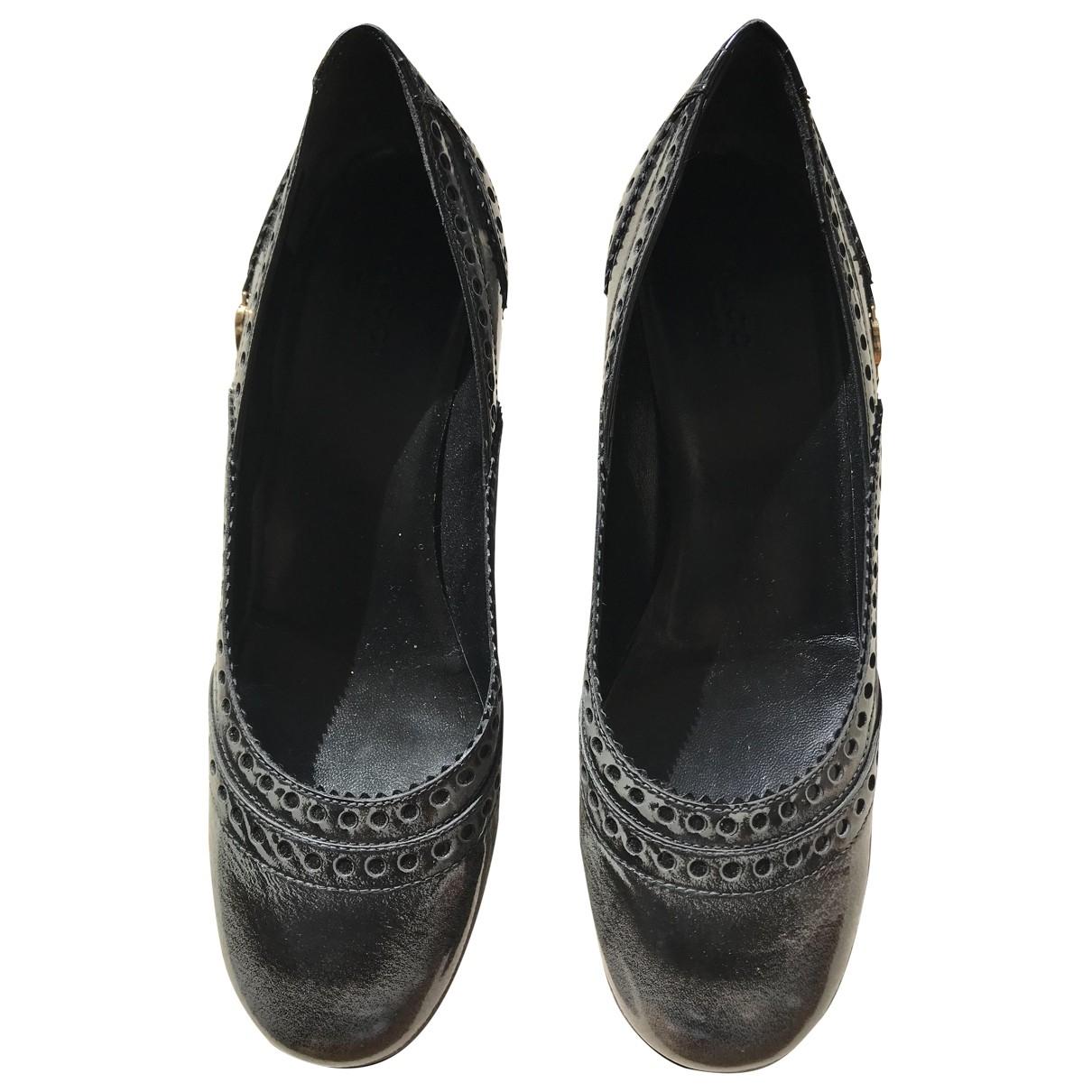 Gucci - Escarpins   pour femme en cuir - gris