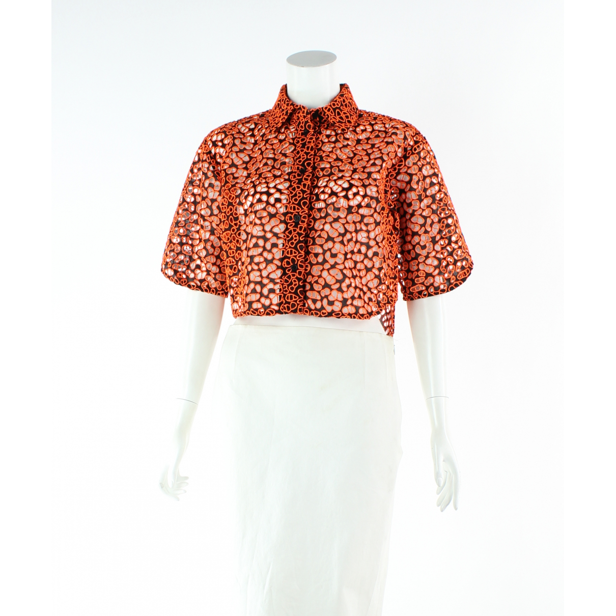 Christopher Kane \N Orange Cotton  top for Women 6 US