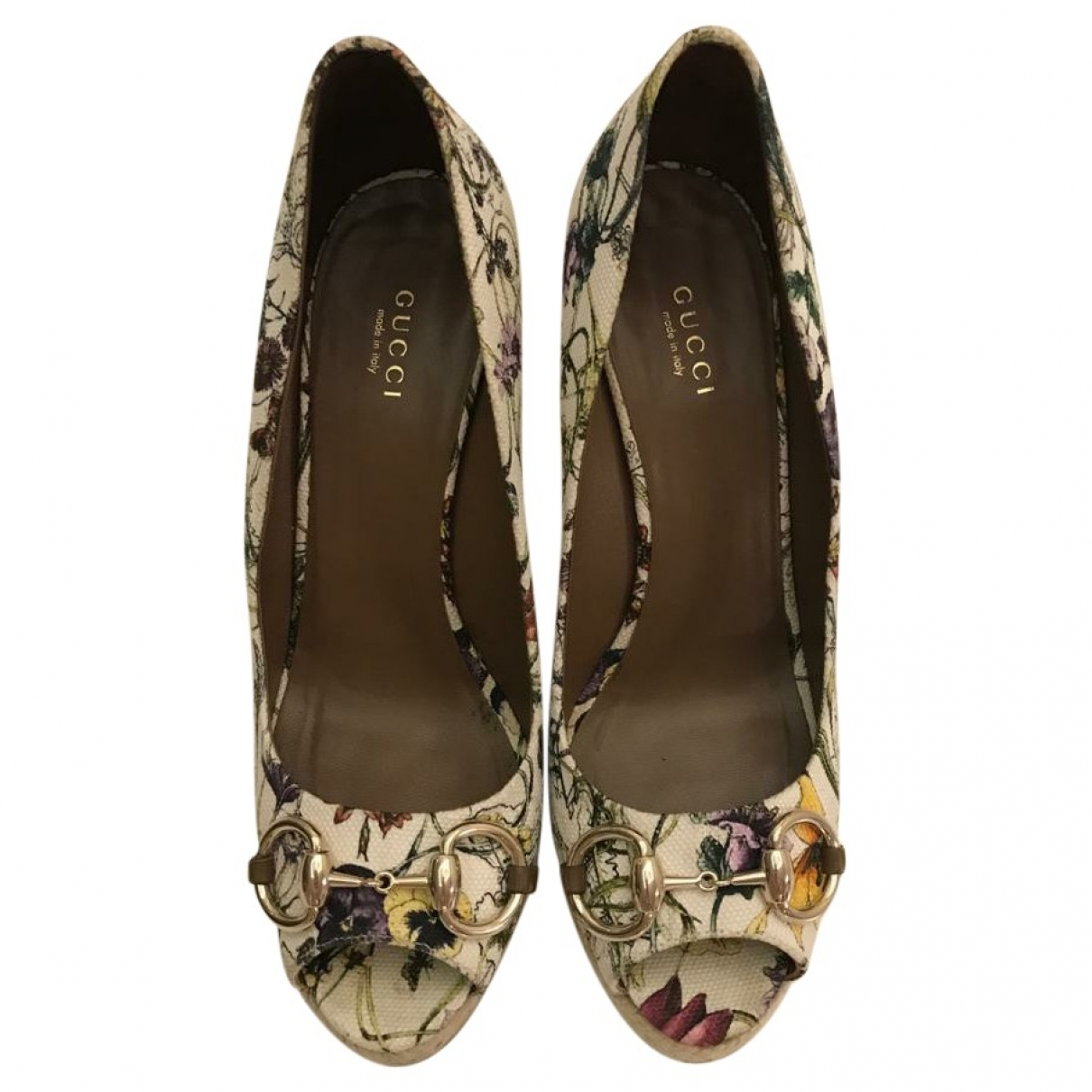 Gucci - Escarpins   pour femme en toile - multicolore