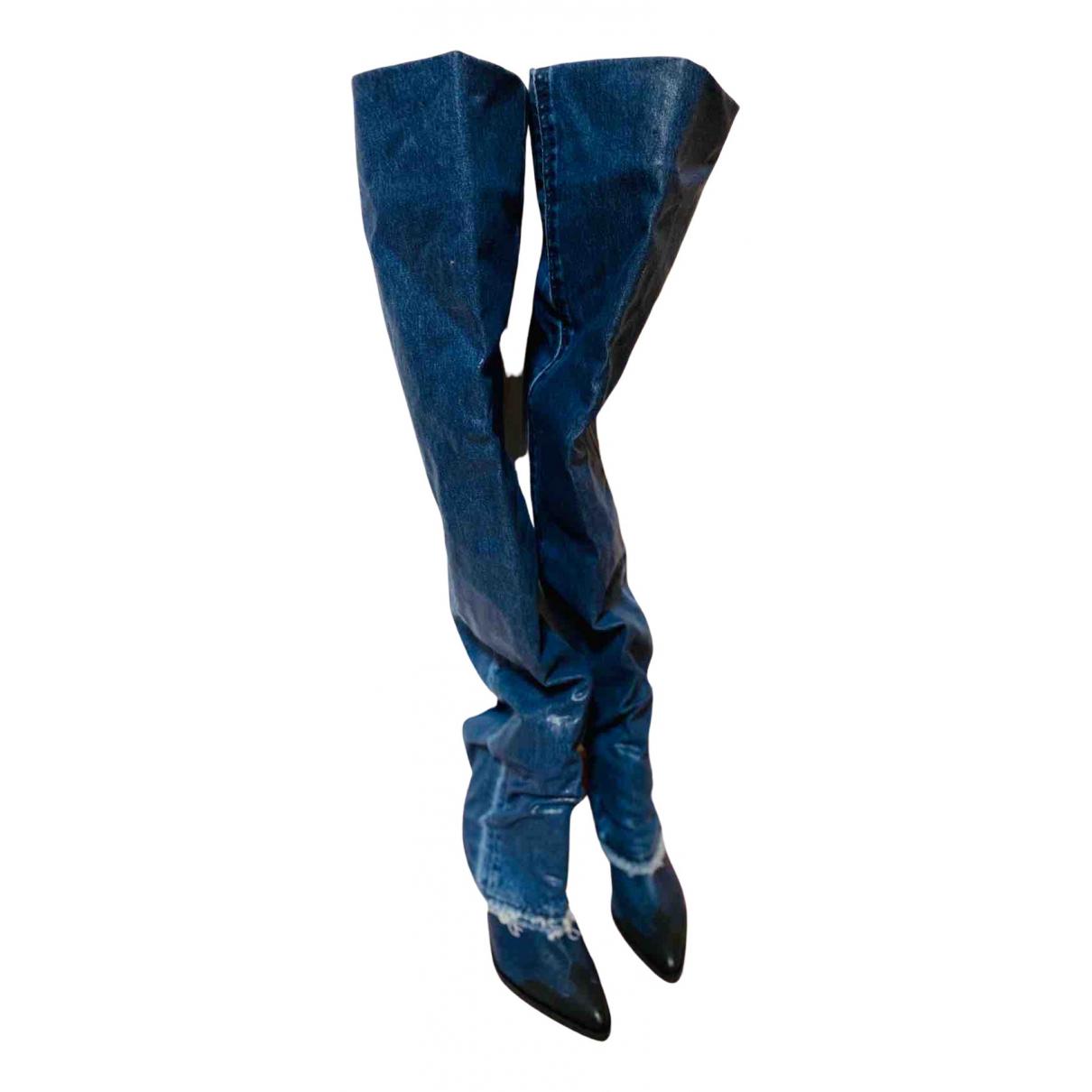 Diesel \N Stiefel in  Blau Leder