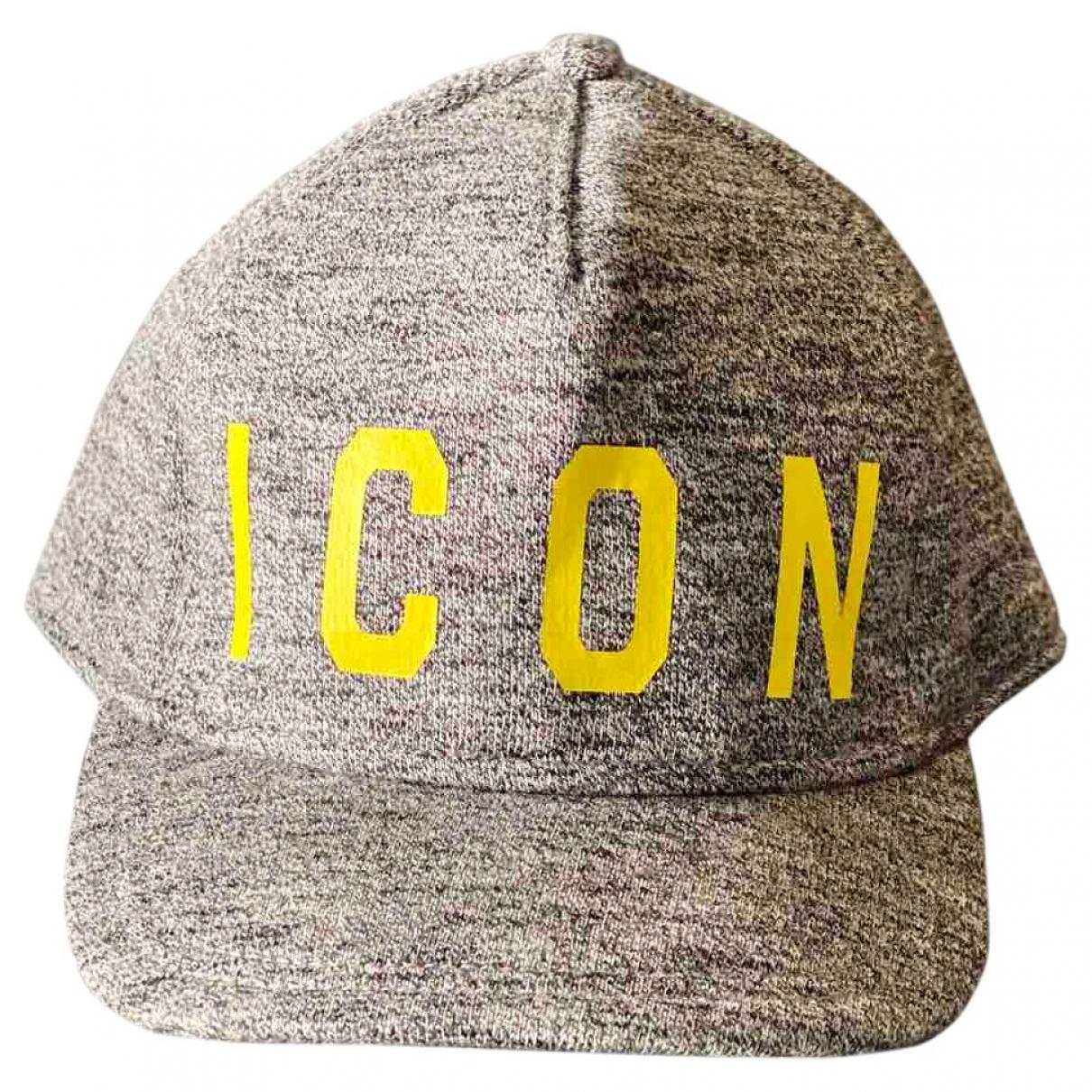 Dsquared2 - Chapeau & Bonnets   pour homme en coton - gris