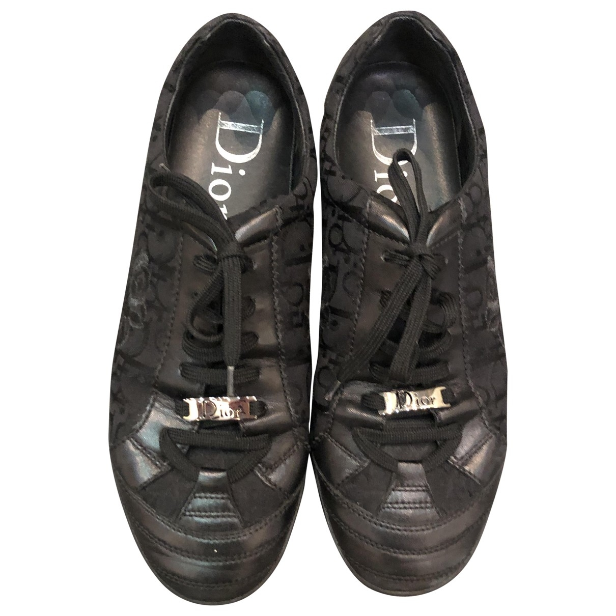 Dior \N Black Leather Trainers for Women 41.5 EU