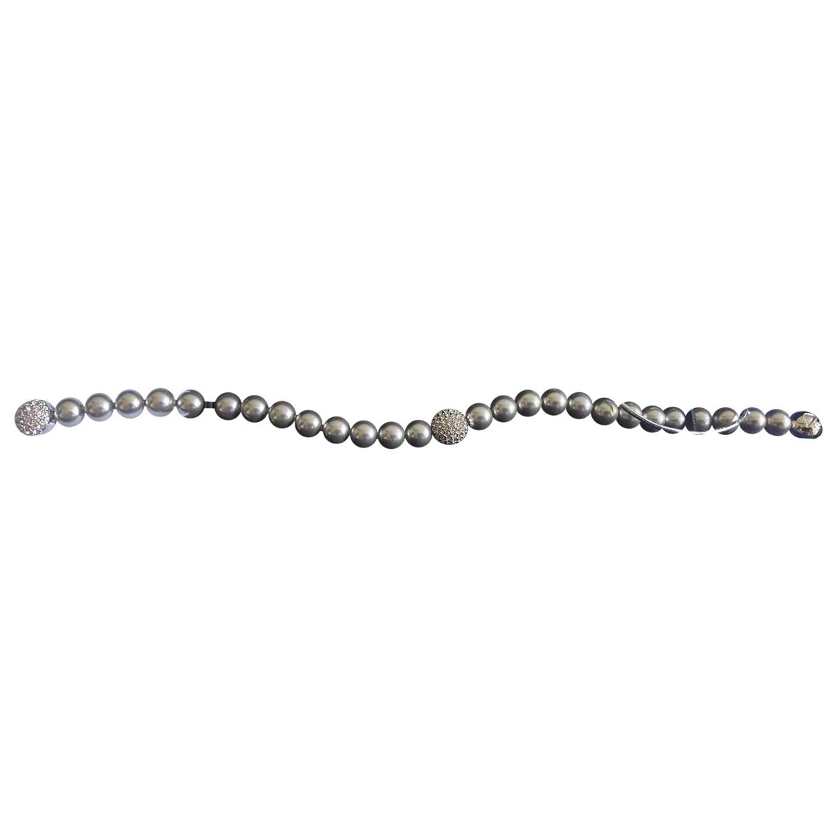 Swarovski \N Armband in  Grau Perlen