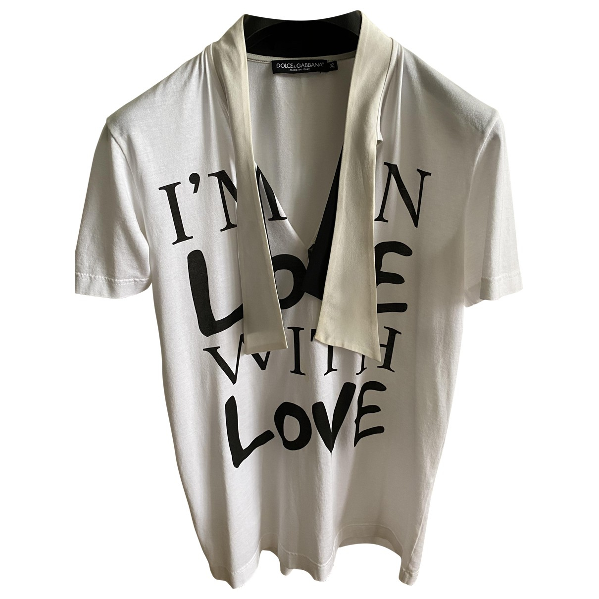 Dolce & Gabbana N White Cotton  top for Women 36 IT