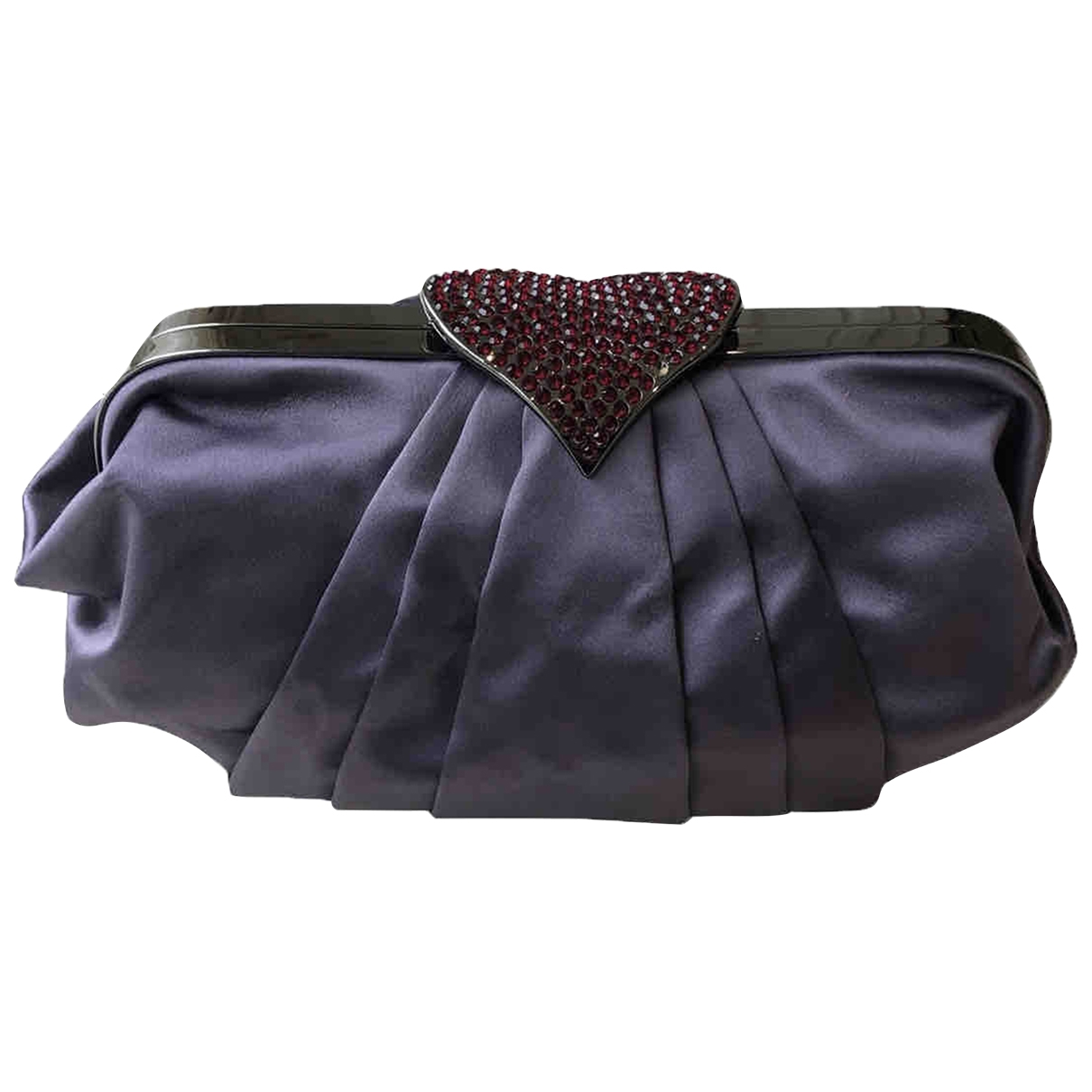 Moschino Cheap And Chic \N Clutch in  Lila Leinen