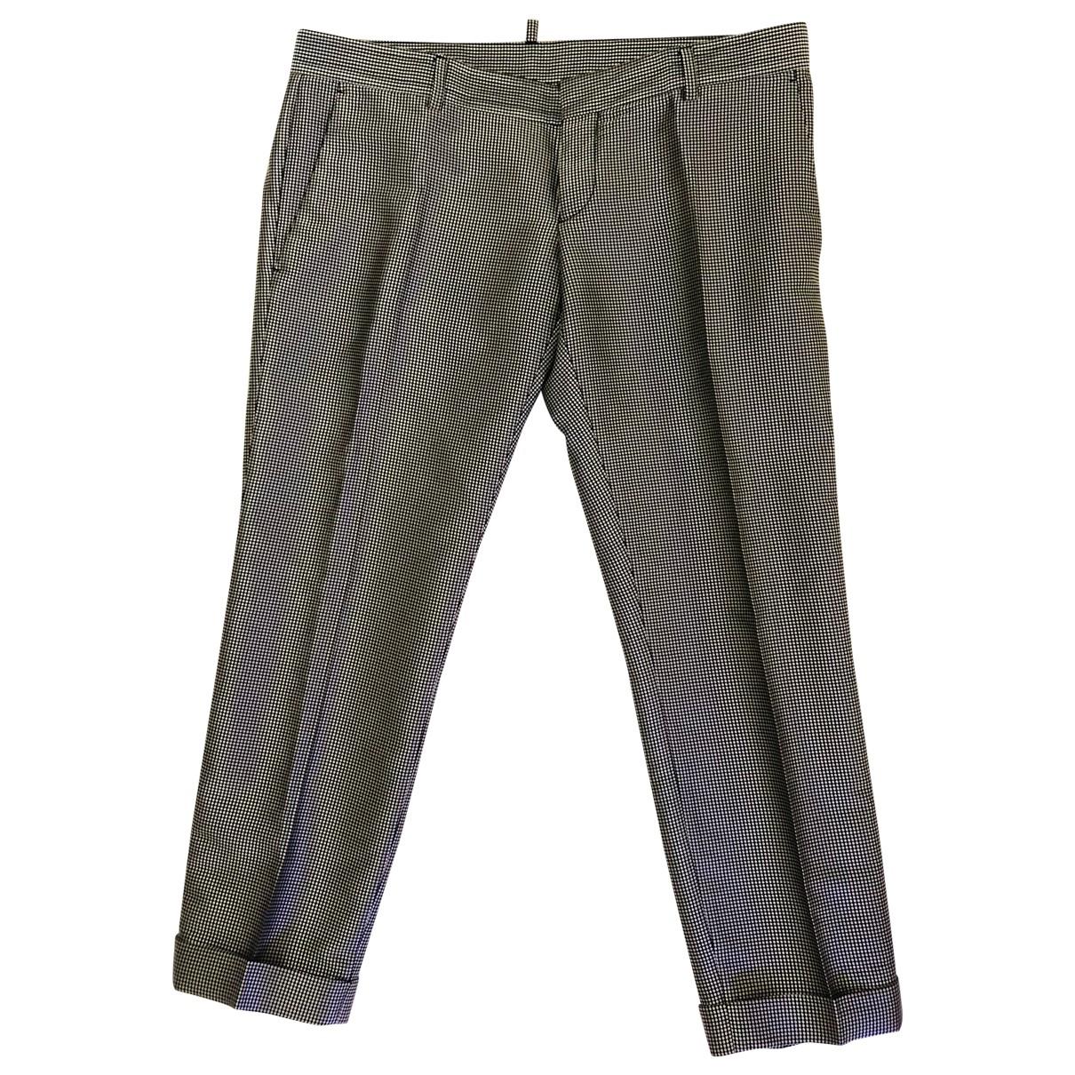 Dsquared2 N Grey Silk Trousers for Women 44 IT
