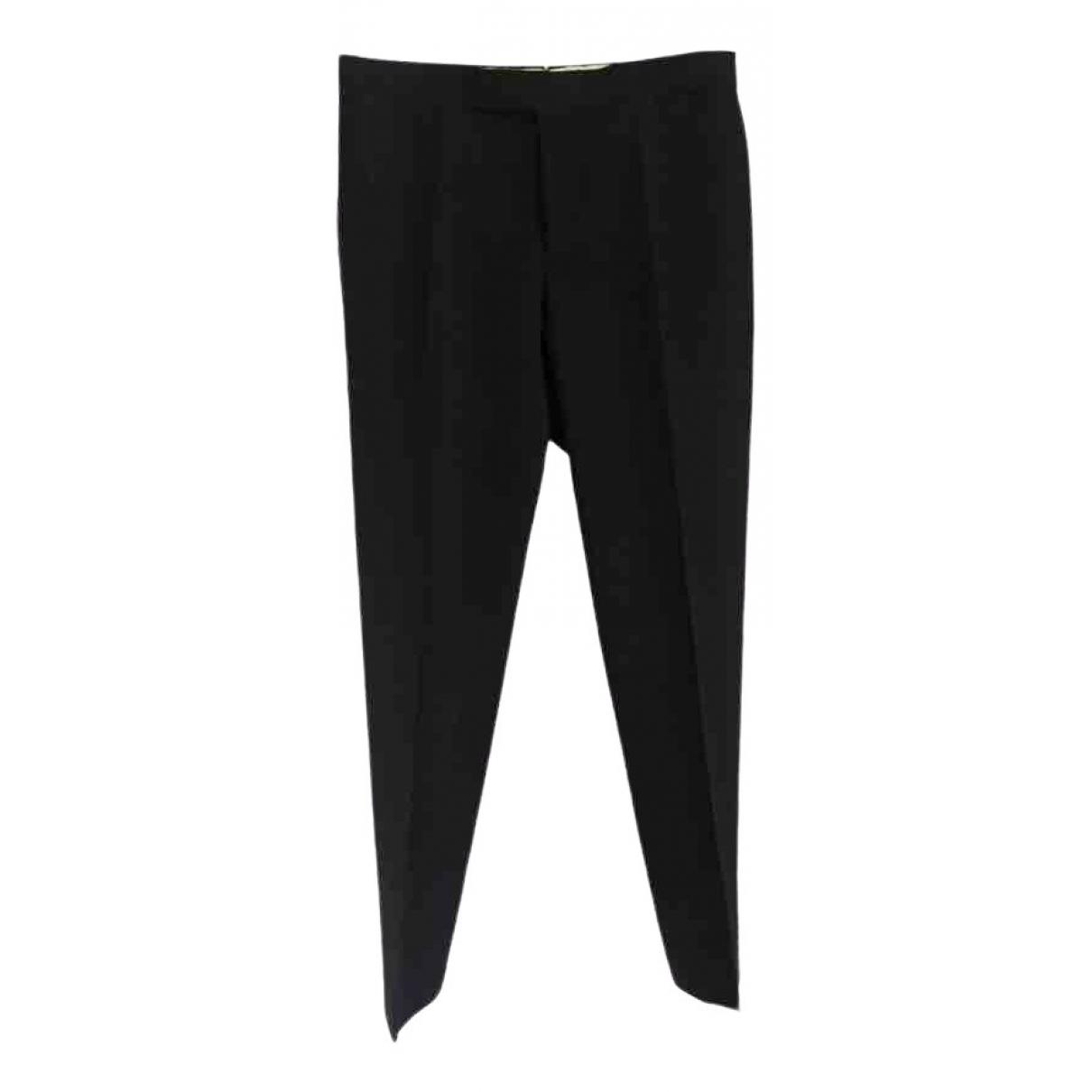 Pantalones en Viscosa Negro Lanvin