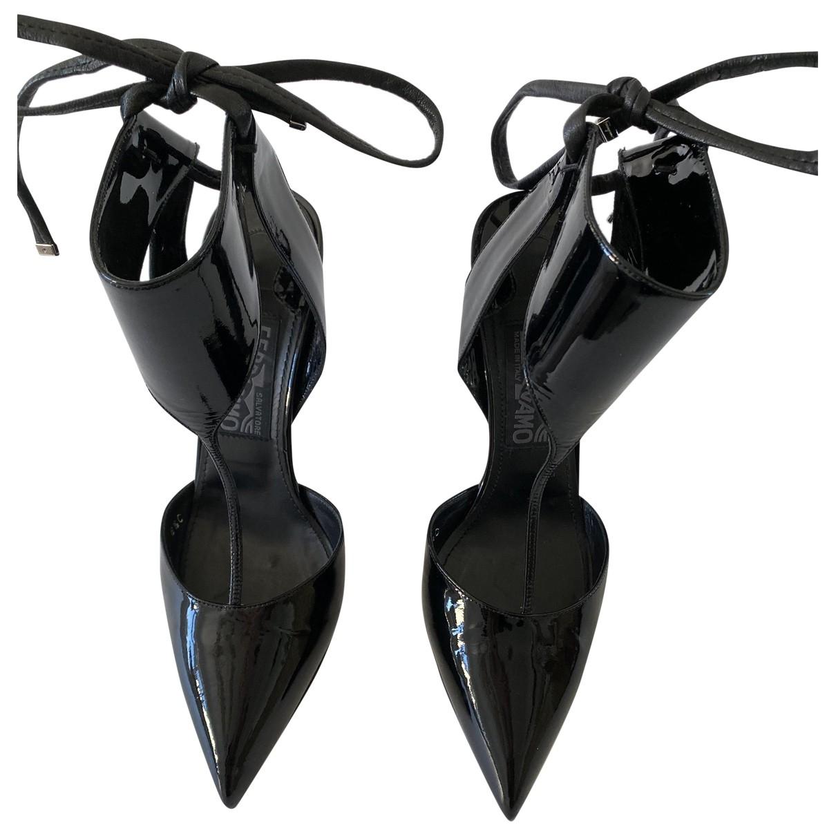 Salvatore Ferragamo \N Black Patent leather Sandals for Women 6.5 UK