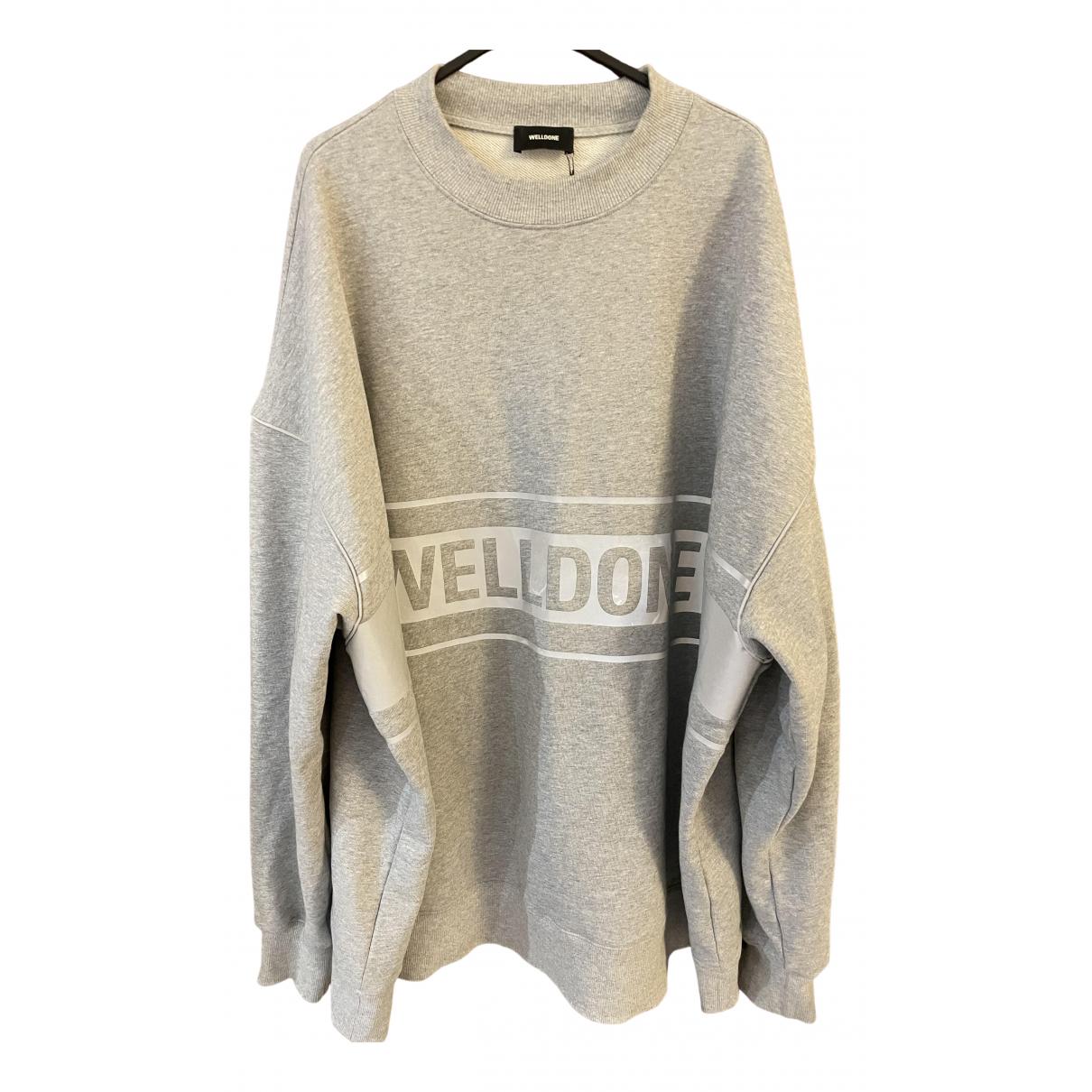 We11done - Pull   pour femme en coton - gris