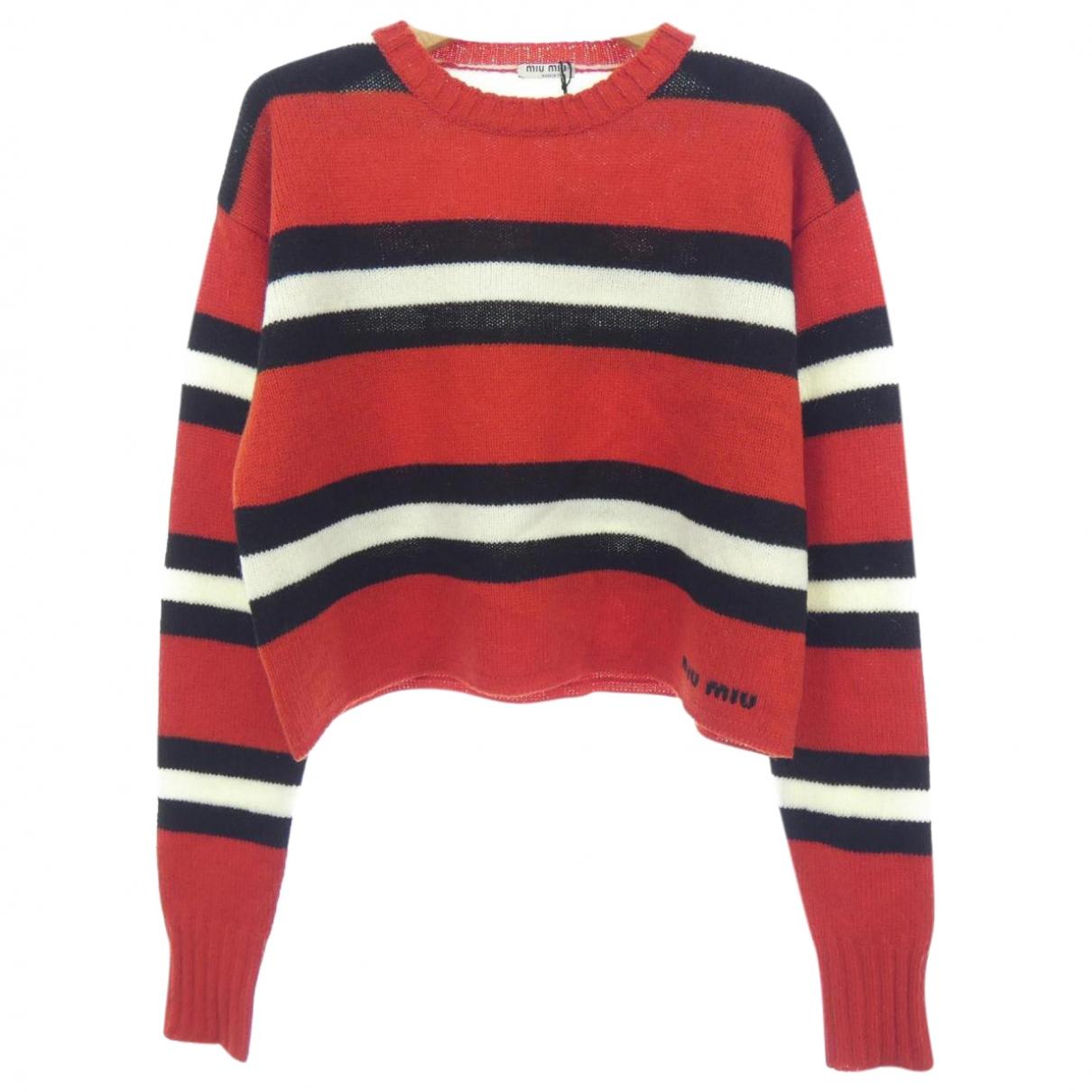 Miu Miu \N Pullover in  Rot Wolle