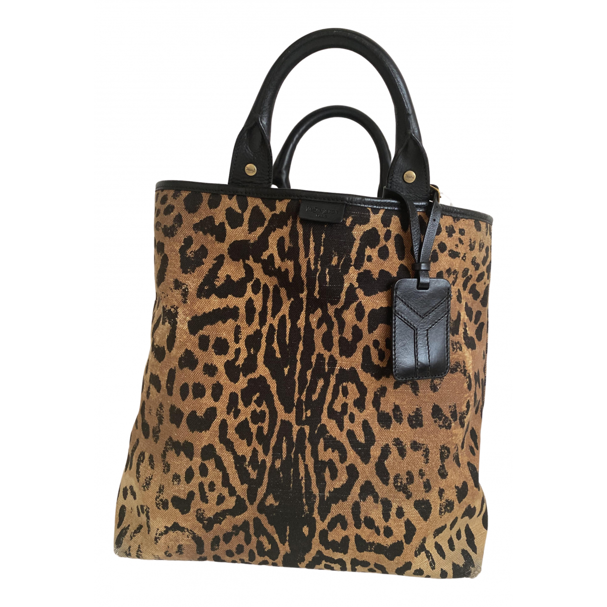 Yves Saint Laurent \N Handtasche in  Beige Leinen