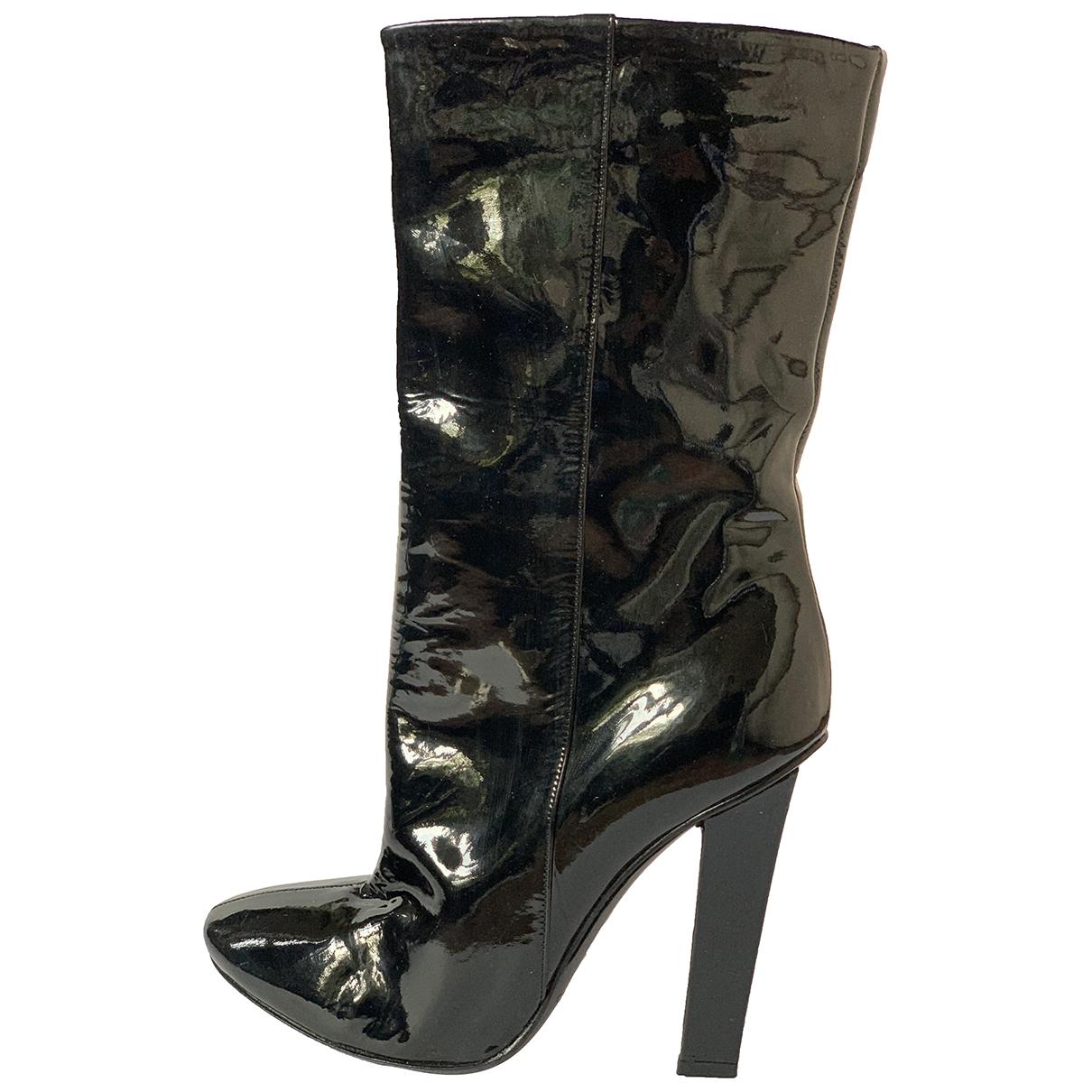 Jimmy Choo - Boots   pour femme en cuir verni - noir