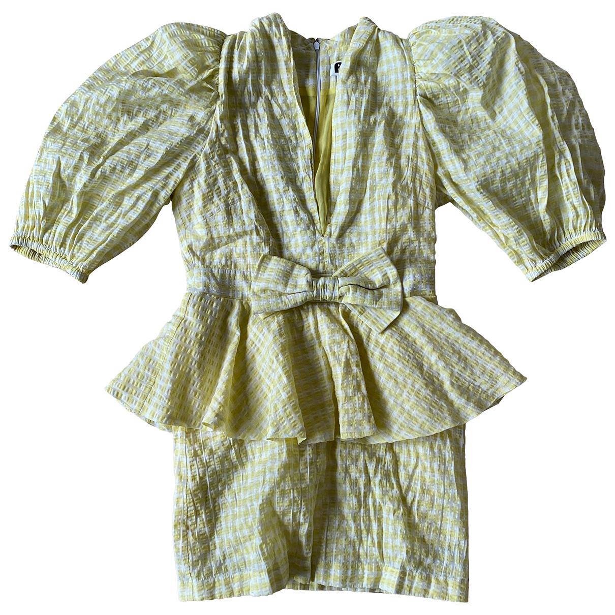 Rotate - Robe   pour femme en coton - jaune