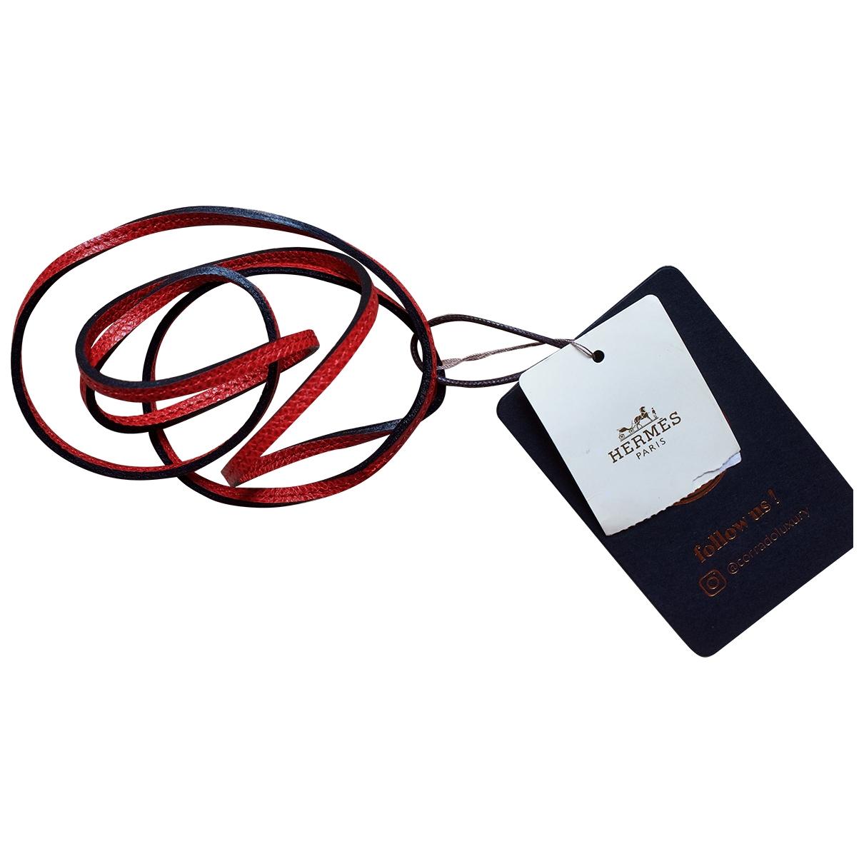Hermes - Collier   pour femme en cuir - rouge