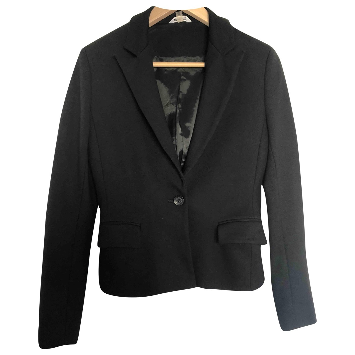 Calvin Klein \N Jacke in  Schwarz Baumwolle