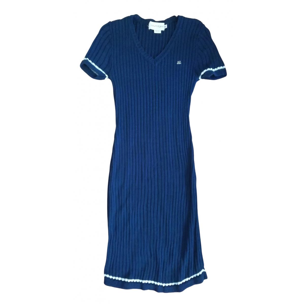 Courreges - Robe   pour femme en coton - marine