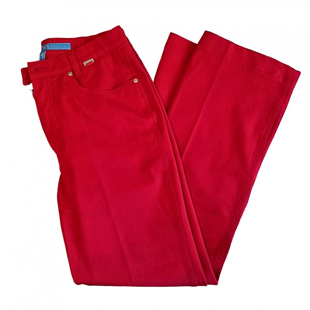 Escada \N Red Cotton - elasthane Jeans for Women 40 FR